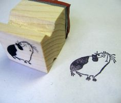 Guinea Pig  rubber stamp by fishcakesoboy on Etsy, $4.00