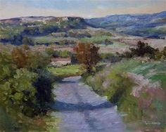 """Daily Paintworks - """"Road near Sisteron"""" - Original Fine Art for Sale - © Pascal Giroud"""