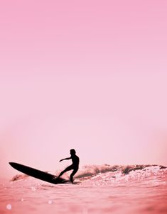 pink surf silhouette.