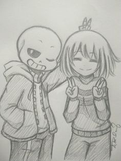 Have some Frans (SansXFrisk) sketch My favorite ship Aahh I really ship this! ♥ ( ^∇^)/ (R. I. P anatomy) UwU