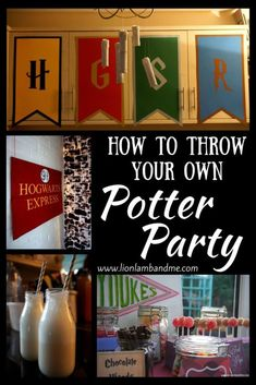 Throwing a Potter Party! Throwing a Harry Potter Party Harry Potter Halloween, Harry Potter Motto Party, Cumpleaños Harry Potter, Harry Potter Cosplay, Harry Potter Wedding, Harry Potter Christmas, Harry Potter Birthday, Harry Potter Characters, Harry Potter Themed Party