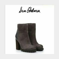 """Sam edelman FRANKLIN ankle boots sz 9.5 NWOB Brown distressed suede front, brown leather back Bold stacked 3.75"""" heel w/treaded rubber sole, burnished toe, 5"""" shaft Full zip inside Orig $160 Sam Edelman  Shoes Ankle Boots & Booties"""