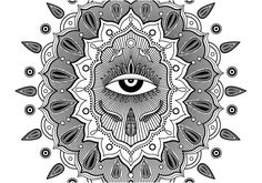 Third Eye Black and White by Yuri Ogita.
