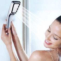 1PCS Water Saving Shower Head Pressurized Faucet Bathroom Handle Shower Booster Sprinkler Showerhead Rainfall Bathroom Sets