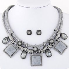 Necklace, Earrings, & Pendant Jewelry Set (Different Colors Available)