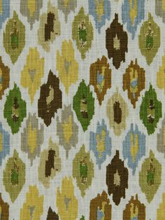 Ikat Fabric by the Yard  Yellow Gray Drapery by greenapplefabrics, $49.00