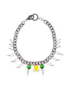 Fallon Crystal Microspike Necklace
