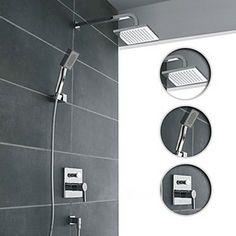 Dual Rain Handheld Shower Set | Faucets, Sinks, Showerheads ...