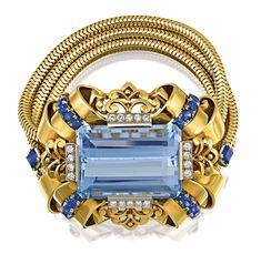 Tiffany OFF! Aquamarine Diamond and Sapphire Bangle by Tiffany Co. Cartier Jewelry, Antique Jewelry, Gold Jewelry, Jewelery, Vintage Jewelry, Jewelry Bracelets, Diamond Bracelets, Sapphire Bracelet, Tiffany Jewelry