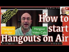 ▶ Hangouts on Air (HOA) = Live Broadcast streamed to your YouTube channel. You can start the hangout before you invite people. Hangout Video Calls (the old) vs. Hangouts on Air (the new)