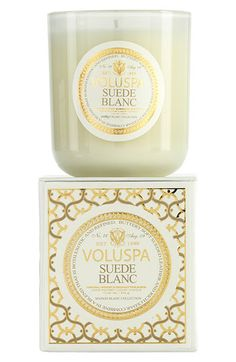 Voluspa 'Maison Blanc - Suede Blanc' Boxed Candle | Nordstrom// currently making my apartment smell wonderful.