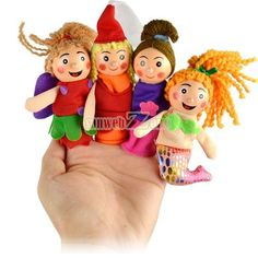 S0BZ 4pcs Pretty Little Mermaid Toy Finger Puppets Baby Gifts Educational Toys   eBay