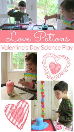 Love these love potions! Easy and cute Valentine's Day science activity for toddlers & kids.