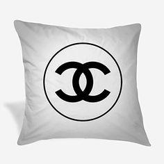 Throw Pillow Covers, Throw Pillows, Chanel Logo, Cushions, Classic, Amazon, Black, Derby, Toss Pillows