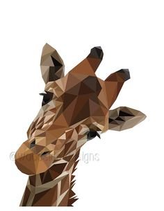 PRINTABLE Low Poly Giraffe Digital Download Print  ✚ NO PHYSICAL PRINT WILL BE SHIPPED - only DIGITAL FILES - NO PRINTED MATERIALS OR FRAME ARE INCLUDED  ✚ No waiting and no shipping fees. Just download, print and enjoy!  ✚ All To The Woodside printable art can be BLOWN UP to any size with no loss of quality using the PDF file supplied (not the JPG) as they are vector-based images   ✚WHAT'S INCLUDED:-  1 High resolution A4 (8.27 x 11.7) or (210mm x 297mm) PDF file of your Art print  1 High…