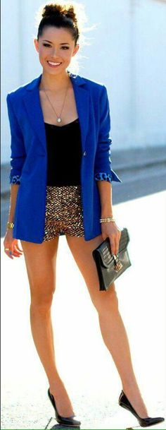 Outfit short brilloso