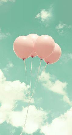 Pastel balloons! Line Deco app