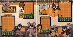 Pickin' Pumpkins 2 Premade Scrapbook Pages Paper Piecing 4 Album Halloween | eBay