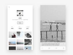 Photo social app design 3