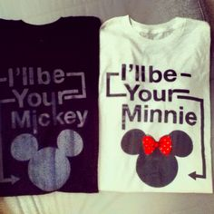 Disneyland couple tshirts I got them finally :))