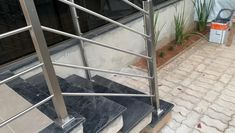 Yuvraj Singh, Steel Railing, Glass