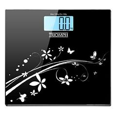Amazon.com: Triomph Digital Bathroom Weight Scale, 330lb Capacity, Automatic Step On, LCD Backlight Display, 6mm Tempered Glass (White): Home & Kitchen