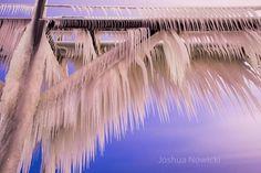 Looking up at the ice on the catwalk on the north pier in Saint Joseph, Michigan. Photo taken before sunrise on December Saint Joseph, Before Sunrise, Lake Michigan, Looking Up, Catwalk, December, Ice, San Jose, Ice Cream