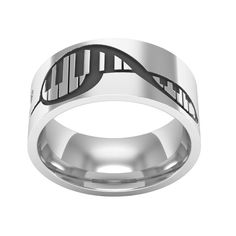 Piano ring Treble Clef Ring Sterling Silver Band Ring por BandRings