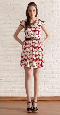 Vestido Antix com estampa de coelhinhos. *DONE*