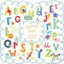 Birth Record Kit - Counted Cross Stitch - Alphabet