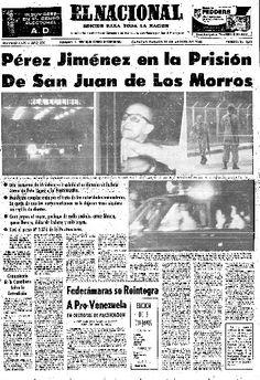 Primera página del diario El Nacional del 17 de agosto de 1963.