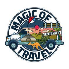 Diseño de logo para un par de chicas viajeras y aventureras