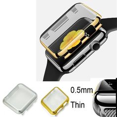 Electroplate Metall harter Fall-Abdeckungs-Schirm-Schutz für iWatch Apple-Uhr A ++   Nagelneu und hohe Qualität Material: Kunststoff PC mit Metallbeschichtung Mit eingebautem Schirm-Schutz verteidigt sich gegen Kratzer, beim Bleiben klar für eine saubere und glatte Anzeige Kompatibel mit: Apple Uhr 38m / 42mm Farben: Gold, Schwarz, Silber Grau Anmerkung: Dieses ist nicht ein Metallkasten, aber ein Plastik PC Fall. Es kommt nur mit metallischen Beschichtung. Lieferinhalt: 1 x Ultra-schlankes…