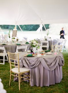 Wedding Tables - Tented Wedding - On Style Me Pretty:   http://www.StyleMePretty.com/2014/03/17/irish-inspired-wedding-at-tir-na-nog-estate/ Brosnan Photographic