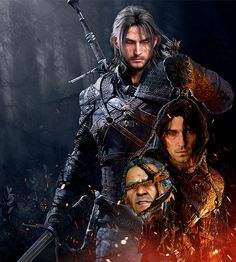 """mistress-light: """" N O C T I S L U C I S C A E L U M O F R I V I A """"When you mix Final Fantasy XV with the Witcher. """" """""""