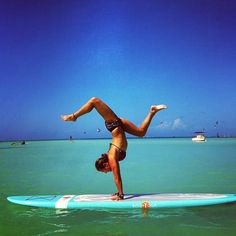 On my bucket list-Surf board yoga <3 Rachel Brathen Yoga Lifestyle #yogaeverydamnday It's a beautiful life, and you are all beautiful souls! Love, love, love