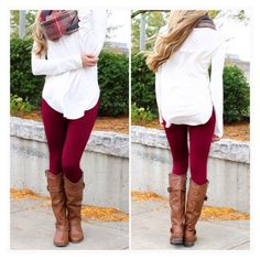 • Seamless Burgundy Leggings • Ultra comfy, cute and seemless leggings. Full length. 80% polyester,  20% spandex. One size fits most. Very stretchy material. Please DO NOT purchase this listing. Comment below and I'll make a listing for you. Jennifer's Chic Boutique  Pants Leggings