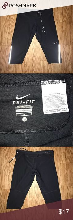 Nike Dri Fit Running Pants Nike Dri Fit Running Pants in good condition with back pocket.  Size: M Color: Black Nike Pants Track Pants & Joggers