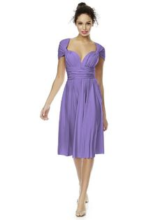 Dessy Cocktail Length Convertible Twist Dress - Tahiti - Size M - Click image twice for more info - See a larger selection of bridesmaid dresses at http://zweddingsupply.com/product-category/bridesmaid-dresses/ -  woman , woman fashion, wedding fashion, wedding ideas, wedding style, bridesmaid, wedding