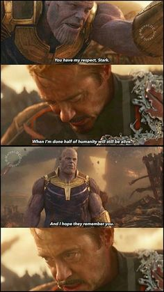 Thanos - Tony - Infinity War we will always remember and love Tony Stark♡ Avengers Movies, The Avengers, Marvel Characters, Intj Characters, Superhero Movies, Comic Movies, Marvel Funny, Marvel Memes, Marvel Dc Comics