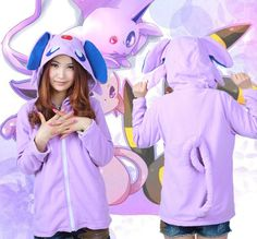 Pokemon Espeon Hoody with Ears & Tails – Top Notch Products  HEY POKEMON FANS! Get this Pokemon Espeon Hoody with Ears & Tails for 10% off the normal price!  Just use code 'ESPEONHOODY020' at checkout.  Order now >> http://mytopnotchproducts.com/products/pokemon-espeon-hoody-with-ears-tails