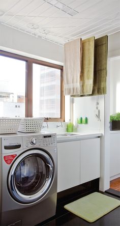 Whether you have a small laundry closet or tiny laundry room, your laundry area can be both useful and also beautiful! Small Laundry Closet, Pantry Laundry Room, Tiny Laundry Rooms, Laundry Room Wall Decor, Laundry In Bathroom, Small Bathroom, Laundry Area, Smelly Laundry, Modern Bathroom Decor