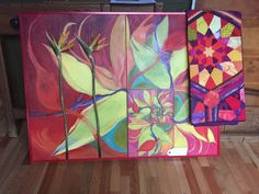 Bird of Paradise in fractals with matching CCW quilt..collaborative art for home