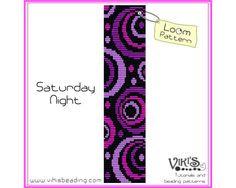Loom Bracelet Pattern: Saturday Night  - INSTANT DOWNLOAD pdf - Buy 2 Get 1 free with coupon codes - bl194 by VikisBeadingPatterns on Etsy