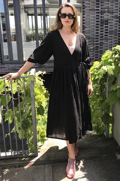 We love our new relaxed wrap summer dresses in silk floral and fine cottons and linens. Linens, Wrap Dress, Silk, Summer Dresses, Floral, Sleeves, Cotton, Collection, Fashion