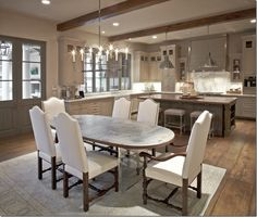 Southern Acadian House by Houston interior designer Tami Owen via Cote de Texas Renovation Design, Home, Home Kitchens, Kitchen Design, Sweet Home, Home Remodeling, Interior, Transitional Dining Room, House Interior