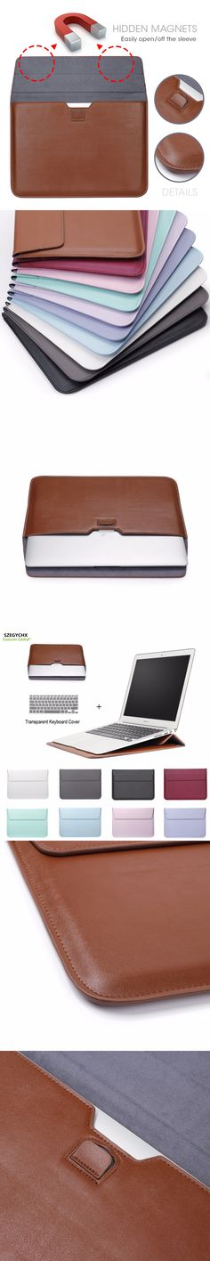 SZEGYCHX  Leather Mail sack Sleeve Bag Case For Macbook Air Pro Retina 11 12 13 15 Notebook Laptop Cover For Macbook 13.3 inch