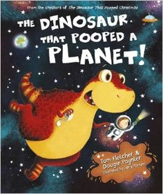 """This is """"The Dinosaur that Pooped a Planet"""" written by two very loved musicians, Tom Fletcher and Dougie Poynter. The two Mcfly boys have a series of children's books about a boy named Danny and and his Dinosaur. Even for a person at my age it is still fun to read. It is mainly for a younger audience but I'm pretty sure an adult could still get a laugh out of it. I highly recommend you get this book for your children because I'm sure they would love it. In the series there is also - """"The…"""