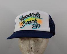 Vintage Pensacola Beach FLORIDA foam mesh by ilovevintagestuff