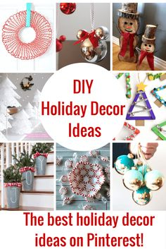 These DIY Holiday Decor Ideas are the best! The holidays are slowly making their way here and I wanted to give you guys a huge head start just in case you wanted to make some of your own decorations this year. I always see so many cute things, but it is always too late to …